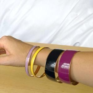 J.Crew Gold Enamel Bracelets Multicolor